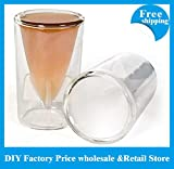 Bombs Away Shot Glasses Missile Shot Glss 44ml Double walled glass Crystal Shot Beer Cup,new arrivel