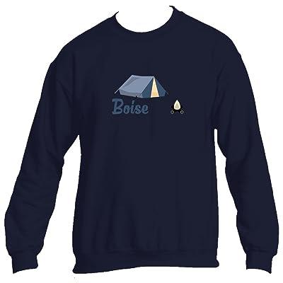 Tenn Street Goods Boise Camping & Camp Fire - Idaho Men's Crewneck Sweatshirt