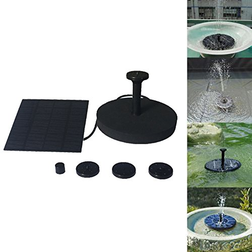 72' Pond (Coohole Floating Solar Powered Pond Garden Water Pump Fountain Kit Bird Bath Fish Tank, Black)