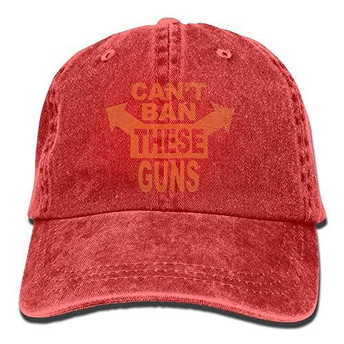 SR-Home ONE-Heart HR Can't Ban Guns Adult Cowboy Baseball Caps Denim Hats for Men Women -