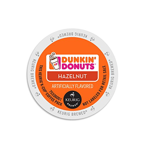 Dunkin Donuts Hazelnut Flavored Coffee K-Cups For Keurig K Cup Brewers (24 Count)