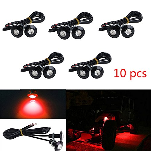10x Eagle Eye DRL LED Rock Lights For JEEP ATV Off Road Truck Under Trail Rig Lights (Red)