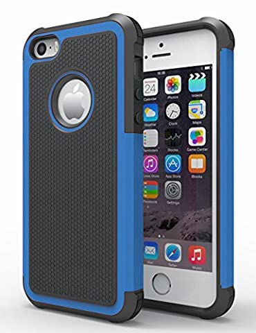 iPhone 5/5S Case, Hankuke Shock Absorption/High Impact Resistant Hybrid Dual Layer Armor Defender Full Body Protective Cover Case for iPhone 5/5S - (Disney Iphone 5s Silicone Case)