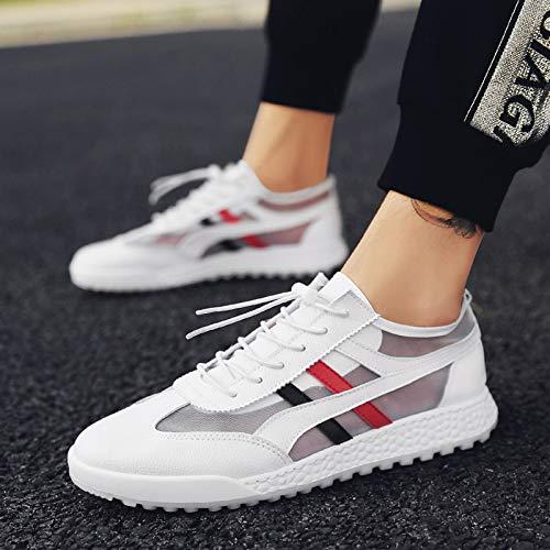 Blanc Étudiant Et Courir Automne Nanxieho Chaussures Tendance Petit Sneakers Hiver Toile ztn0nHqx