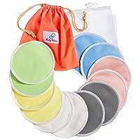 Reusable Nursing Pads 12 Pack   Organic Bamboo   Laundry & Travel Bag   Breas...