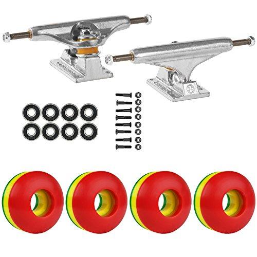 舌な友だち公式スケートボードパッケージ独立129 Trucks 50 Mm Rasta 3色ABEC 7 Bearings