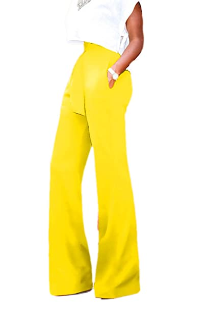 Cintura Alta Cintura Mujeres Pantalones Largos, Pantalones De ...