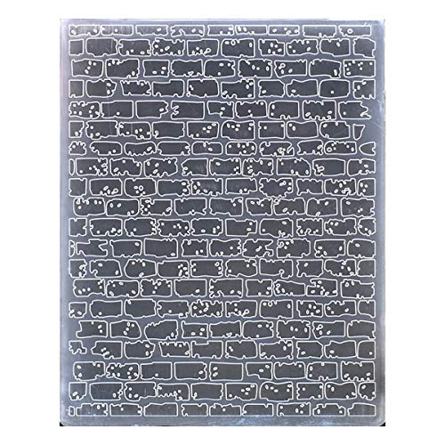 Kwan Crafts Brick Wall Plastic Embossing Folders for Card Making Scrapbooking and Other Paper Crafts, 12.1x15.2cm