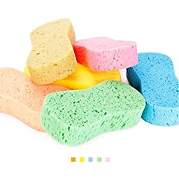 Lantee 10 Pieces High Foam Cleaning Washing Sponge Pad for Car