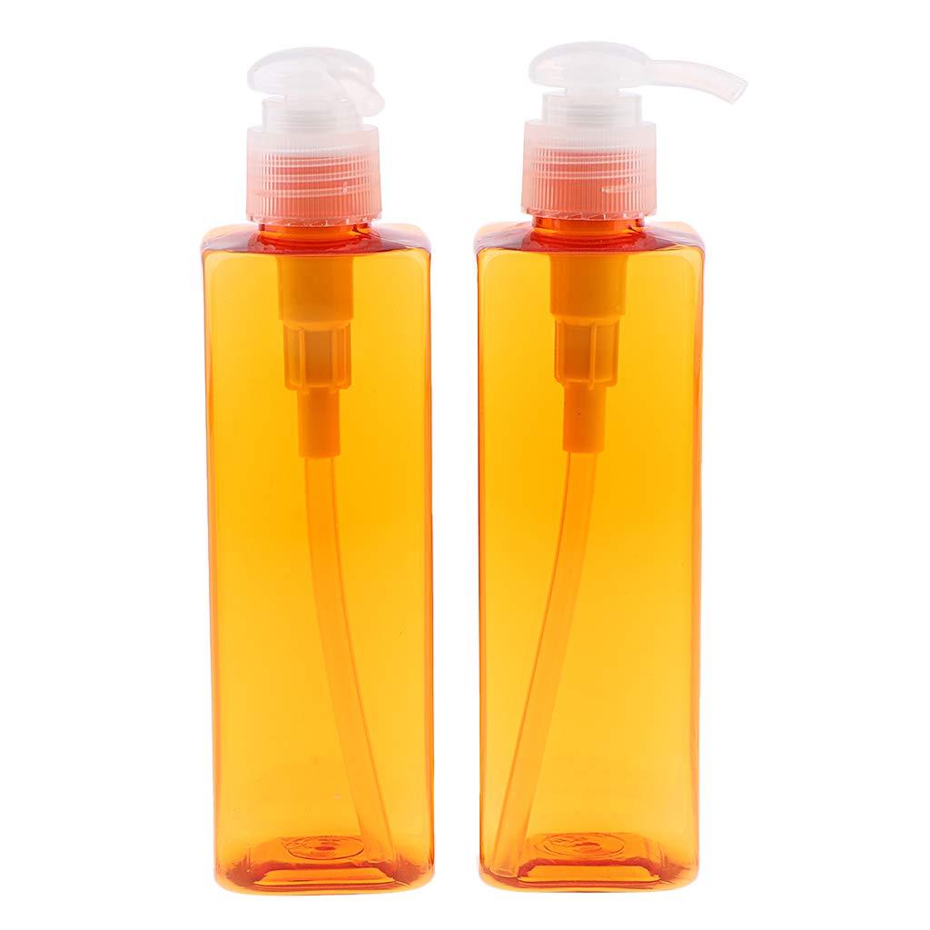 Homyl 2x 500ml Vide Distributeur /à Pompe de Savon en Plastique Bouteille de Shampooing Rechargeables de Maison Pompe blanche
