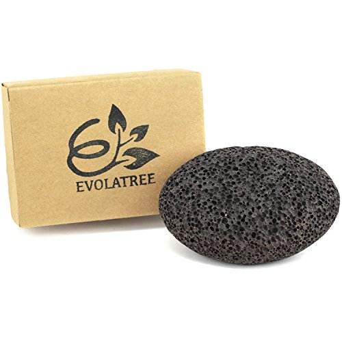 Evolatree Pumice Stone for Feet - Best Foot Scrubber Callus Remover for Dead Skin - Unique Spa Pedicure Tool for Healthy (Hand Stone Spa)