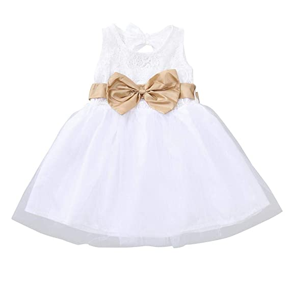 K-youth Vestido para Niña Ropa Bebé Niñas Tutu Princesa Vestido Niña Vestido de Fiesta