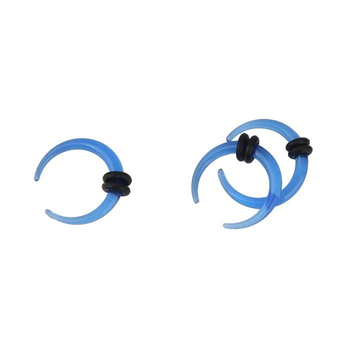 9 Pares Dilatador Expansor Forma Cuerno Túnel Acrílico para Oreja Oído (azul): Amazon.es: Joyería