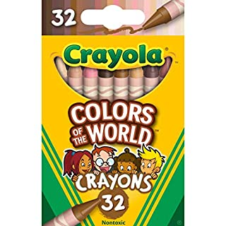 Crayola Crayons 32 Pack, Colors of The World, Multicultural Crayons