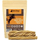 Raw Paws 6-inch Green Tripe Sticks for Dogs, 5 Pack - Packed in USA - Beef Tripe Twist Sticks - Green Tripe Treats for Dogs from Free-Range, Grass Fed Cattle with No Added Antibiotics or Hormones