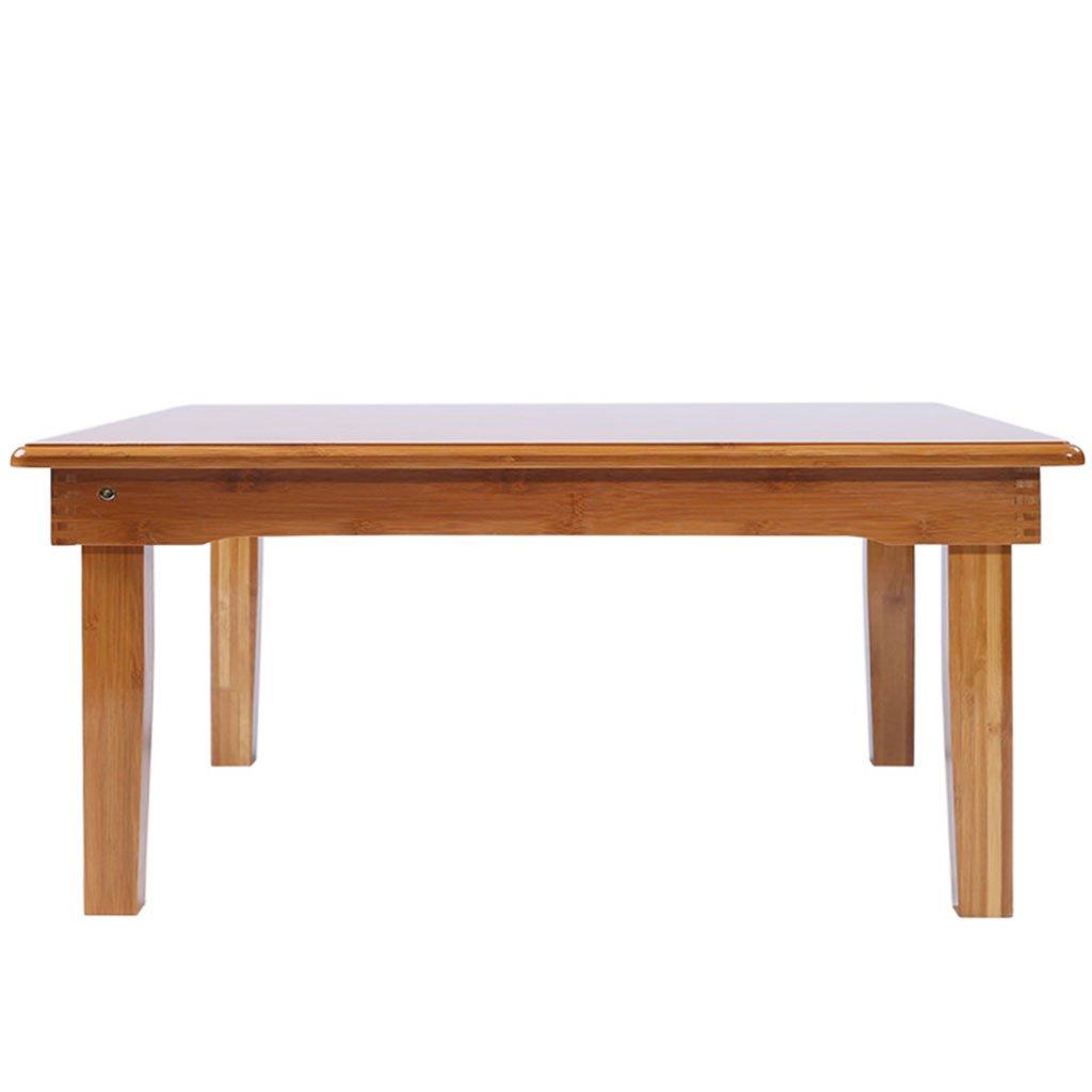 KKY-ENTER 折りたたみテーブルナチュラル竹ウッドリビングルームバルコニースクエアスモールコーヒーテーブル折りたたみ可能増粘強化デスク (サイズ さいず : L60*W60*H40cm) B07DKBGX3G L60*W60*H40cm L60*W60*H40cm