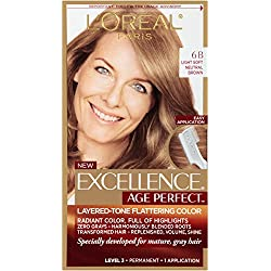 L'Oreal Paris ExcellenceAge Perfect Layered Tone Flattering Color, 6B Light Soft Neutral Brown(Packaging May Vary)