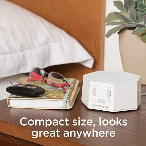 LectroFan Premium White Noise Sound Machine with 20 Distinctive Non-Looping Fan
