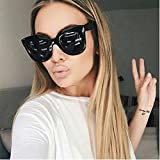 Women Sports Outdoor Sunglasses for Walking Hiking Camping - Vintage Cateye Frame - Readers UV Protection Eyeglasses - Integrated UV Acetate Frame Glasses - Fashion Photoprops Frame Shades Eyewear (A)
