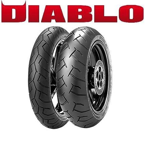 Par gomas neumáticos Tapicería Diablo para KTM LC4 640 Supermoto ...