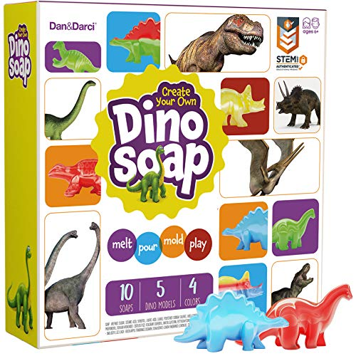 Dino Soap Making Kit for Kids - Dinosaur Science Kit for Kids : Great Gift for Girls and Boys