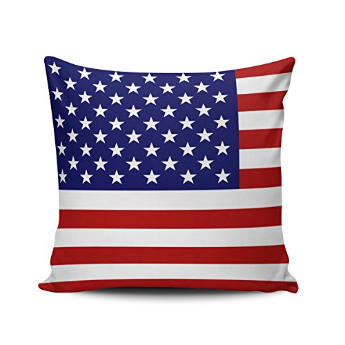 Fanaing American Flag Pillowcase Home Sofa Decorative 20X20 Inch Square Throw Pillow Case Decor Cushion Covers One-Side Printed