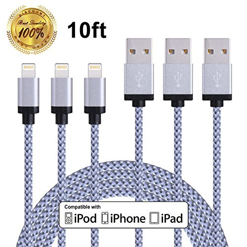 Winage 3Pack 10FT Lightning to USB Cable