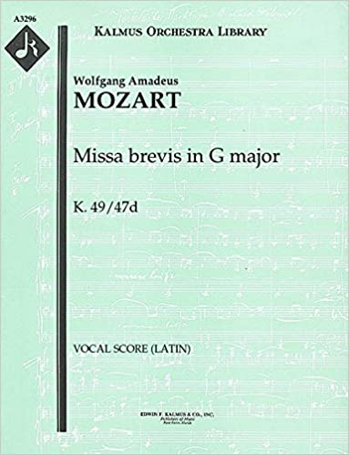 Missa brevis in G major, K.49/47d: Vocal Score (Latin) (Qty