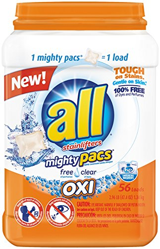 all Mighty Pacs Laundry Detergent with OXI Stain Removers an