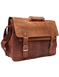 Feather Feel 15' Steampunk Leather Birefcase Messenger Bag Large Satchel Office Women Handbag Shoulder Bag Christmas...
