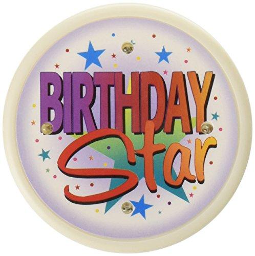 Beistle FB11 Birthday Star Flashing Button, 2-1/2-Inch