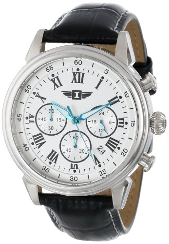 I By Invicta Men's 90242-002 Stainless Steel Watch with Black Leather Band ()