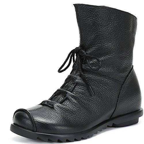 Anti Cuero De Ocasional Boots Deslizante Calientes Grueso Nieve Botas Bota Plataforma Zapatos Saguaro Mujer Fur Impermeable Invierno Negro Botines tqwxXqRA6