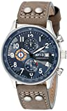 AVI-8 Men's AV-4011-08 Hawker Hurricane Stainless Steel Watch with Light Brown Genuine Suede Band
