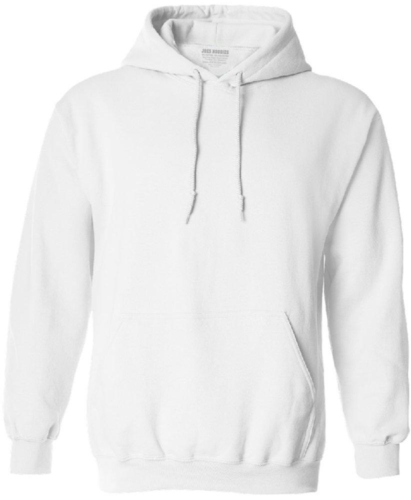 Joe's USA tm Hoodies Soft & Cozy Hooded Sweatshirt,Small White