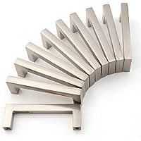 Koofizo 1816 Square Bar Pull Handle for Bedroom Bathroom Cabinet Cupboard Desk Drawer Dresser Kitchen, Silver