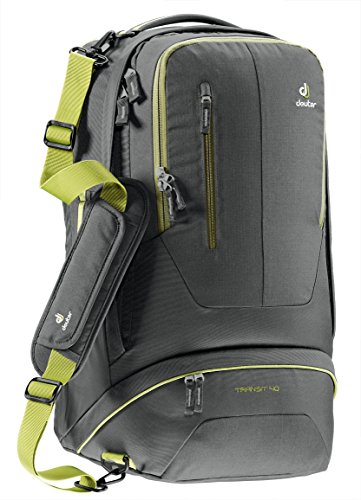 Deuter Transit 40 Carry-On Travel Backpack, Anthracite/Moss (Mens Backpack Deuter)
