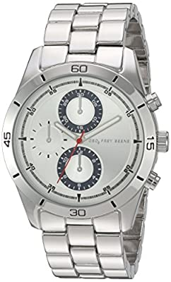 Geoffrey Beene Men's Quartz Metal and Alloy Automatic Watch, Color:Silver-Toned (Model: GB8079SLBL)
