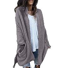 BingYELH Women Overcoat Women's Winter Fuzzy Fleece Long Warm Faux Fur ParkaCoat