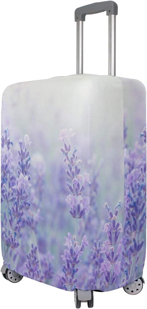 Baggage Covers Lavender Flower Sea Purple Romantic Washable Protective Case