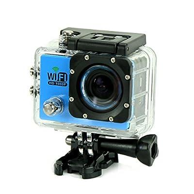 Uniquer Sport DV SJ6000 WiFi 12MP 170 Degree 1080P Digital Waterproof Helmet Sports Action Car Camera Blue