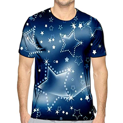 T-Shirt 3D Printed Starry Night Casual Tees b