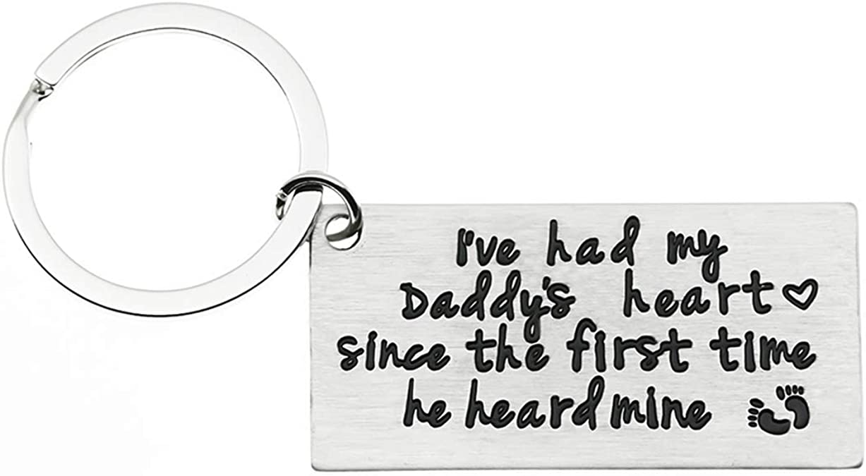 New Daddy est 2018 19 Metal Keyring HD With Gift Box Fathers Day Christmas Gift