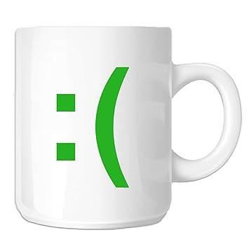Sad Face Emoji Emoticon Symbol 11 Oz Novelty Coffee Mug Lime Green