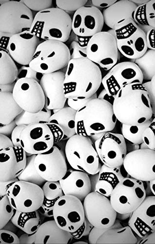 Lot of White Mini Skulls Jewelry Making Beads for Halloween Crafts Party Goth Jewelry Scary Fun - DIY for Handmade Bracelet Necklace Craft Supplies ()