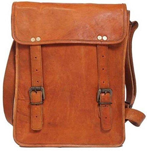 Tuzech vintage da uomo fibbia in pelle croce corpo fionda spalla Borsa Messenger, 3scomparti per PC fino a 33,8cm