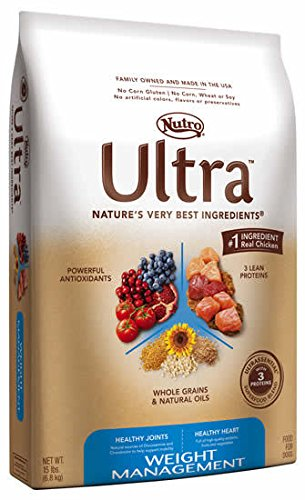 Nutro Ultra Weight Management Dog Food, 15 Lb.