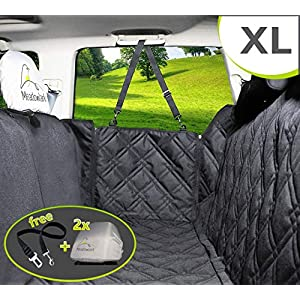 Meadowlark XL Dog Seat Covers Unique Design & Full Car Protection-Doors,Headrests & Backseat. Extra Durable Zippered… Click on image for further info.