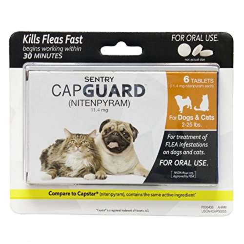 Sentry Capguard Flea Tablets for Dogs and Cats 2-25lbs