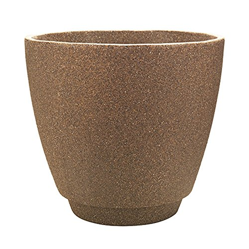 "Southern Patio 20"" Metro Poly-Resin Planter, Granite Brown"